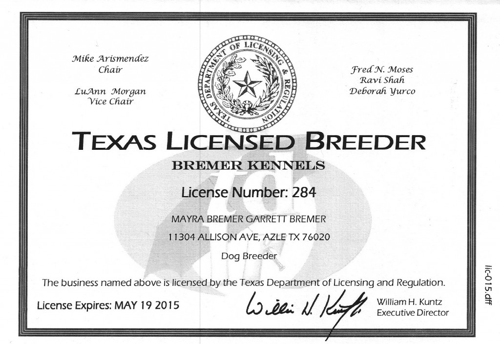 Texas Breeder License